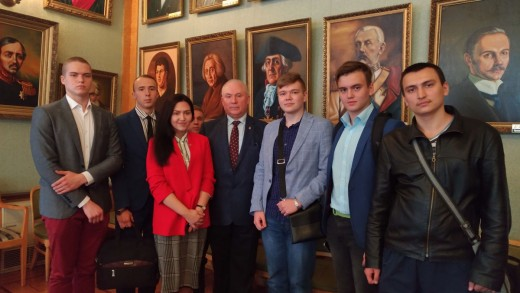 Посещение студентами ИМЦ  лекции, организованной  Комитетом по образованию Международного Союза экономистов
