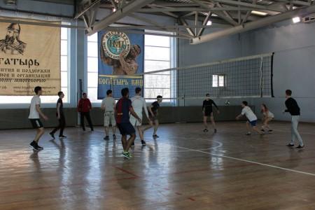Товарищеский матч по волейболу